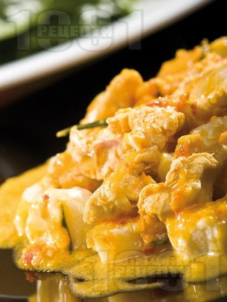 Пилешко къри с портокалов аромат - снимка на рецептата